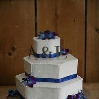 Flowers & Decor, Cakes, blue, cake, Flowers