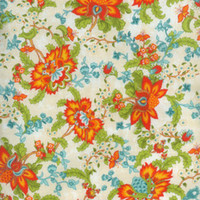 Reception, Flowers & Decor, orange, blue, green, Floral fabric