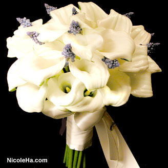 Flowers & Decor, Bride Bouquets, Flowers, Muscari, Bouquet, Calla, Lilies, Bridal