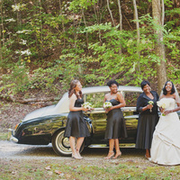 Bridesmaids, Bridesmaids Dresses, Fashion, white, green, black