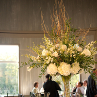 Reception, Flowers & Decor, white, green, black, Centerpieces, Flowers, Centerpiece, Table, For, Head