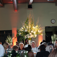 Reception, Flowers & Decor, white, green, black, Centerpieces, Flowers, Centerpiece
