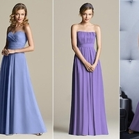 Bridesmaids, Bridesmaids Dresses, Fashion, purple, blue, Bridesmaid, In, Lineup, Bluepurple