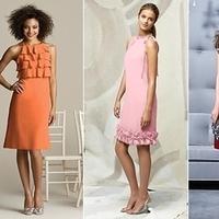 Bridesmaids, Bridesmaids Dresses, Wedding Dresses, Fashion, yellow, orange, pink, red, dress, Look, Mismatched