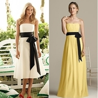 Ceremony, Flowers & Decor, Bridesmaids, Bridesmaids Dresses, Wedding Dresses, Fashion, white, yellow, black, dress