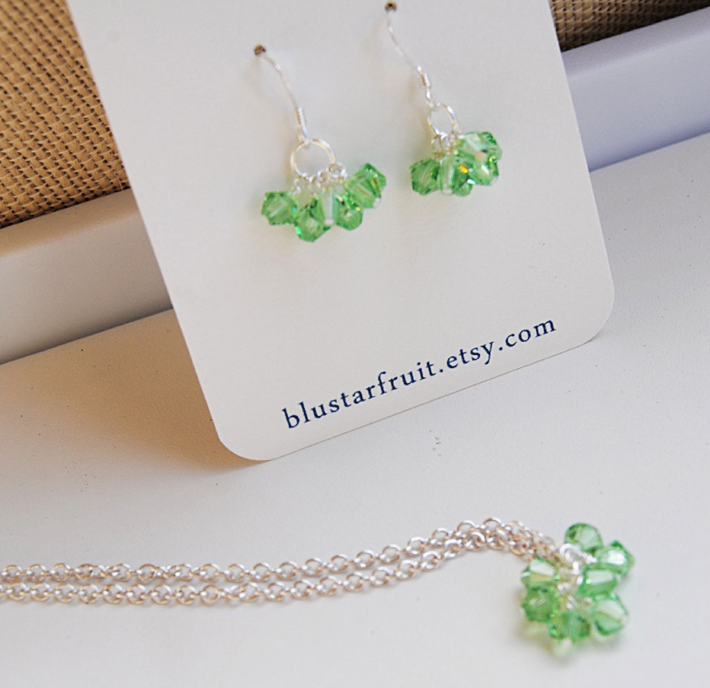 Jewelry, green, silver, Bridesmaid, Blustarfruit