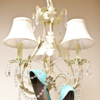 Shoes, Fashion, blue, Chandelier