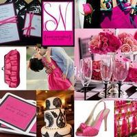 white, pink, black, silver