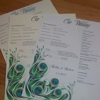 white, green, blue, yellow, Invitations, Stationery