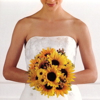 Flowers & Decor, yellow, orange, Bride Bouquets, Flowers, Bouquet, Sunflowers