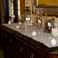 Reception, Flowers & Decor, white, black, Candy, Buffet