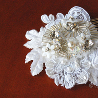 Beauty, Jewelry, white, Bride, Hair, Lace, Pearls, Accessory, Fascinator
