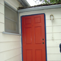 white, red, blue, Home, Door