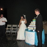 Reception, Flowers & Decor, Cakes, blue, cake, Cupcakes