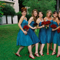 Flowers & Decor, Bridesmaids, Bridesmaids Dresses, Wedding Dresses, Fashion, red, blue, dress, Bridesmaid Bouquets, Flowers, Inspiration board, Flower Wedding Dresses
