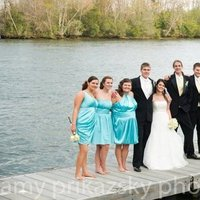 Bridesmaids, Bridesmaids Dresses, Fashion, white, yellow, blue, black, Wedding party