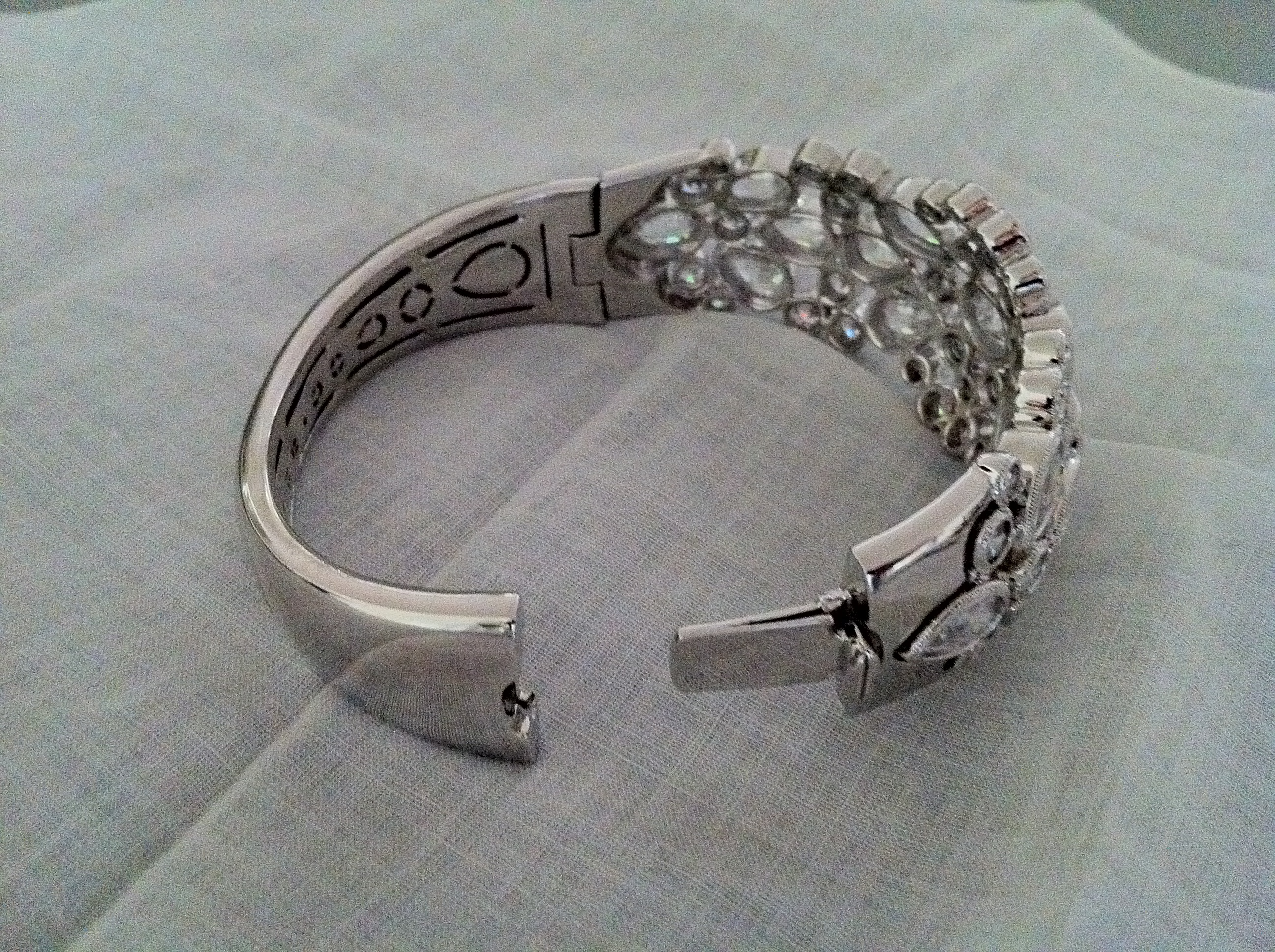 Jewelry, silver, Bracelets, Glam, Wedding, Crystal, Bracelet, Cuff, Bangle, Orsini, Adriana