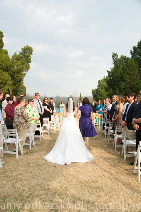 Ceremony, Flowers & Decor, Wedding Dresses, Fashion, white, yellow, purple, blue, dress, Train, Aisle
