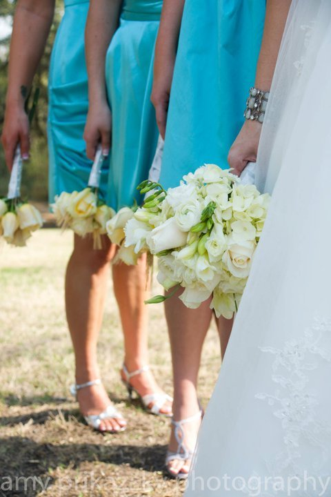 Flowers & Decor, Bridesmaids, Bridesmaids Dresses, Fashion, white, yellow, Bridesmaid Bouquets, Flowers, Bouquets, Flower Wedding Dresses