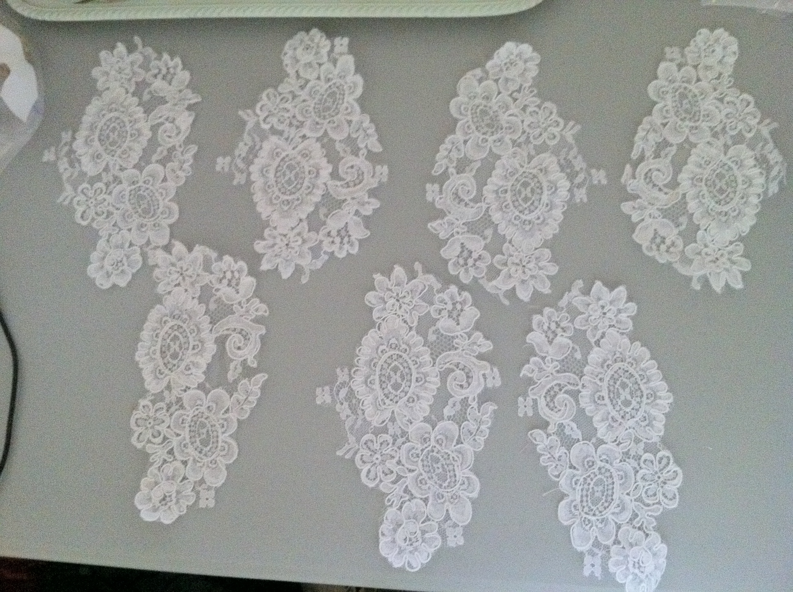 Flowers & Decor, Decor, Lace, Burlap, Place, Mat, Sections