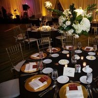 Reception, Flowers & Decor, black, gold, Flowers