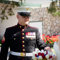 Wedding Dresses, Photography, Fashion, white, red, blue, dress, First, Look, Military, Marine, Hollis, Corps, Cari