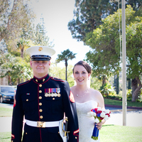 Flowers & Decor, Wedding Dresses, Photography, Fashion, white, red, blue, dress, Flowers, First, Look, Military, Marine, Hollis, Corps, Cari, Flower Wedding Dresses