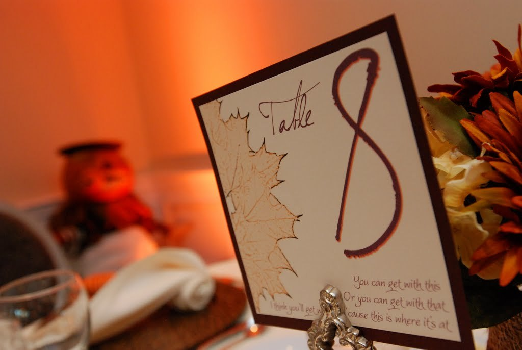 Stationery, Table Numbers, Table number