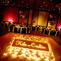 Reception, Flowers & Decor, white, yellow, pink, purple, black, Dance, And, Floor, Uplighting