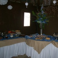 Reception, Flowers & Decor, blue, Flowers, Barn