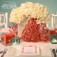 Reception, Flowers & Decor, yellow, red, Beach, Centerpieces, Beach Wedding Flowers & Decor, Centerpiece, Chic