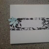 Stationery, white, black, invitation, Invitations, And, Ribbon, Damask, Dvd