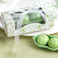 Favors & Gifts, green, Favors, Salt and pepper shakers, Two peas in a pod