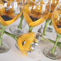 Reception, Flowers & Decor, Favors & Gifts, Bridesmaids, Bridesmaids Dresses, Fashion, Registry, orange, brown, black, Favors, Bridesmaid Bouquets, Drinkware, Flowers, Party, Gift, Bridesmaid, Bridal, Glasses, Inspiration board, Sunflower, Functional, Flower Wedding Dresses