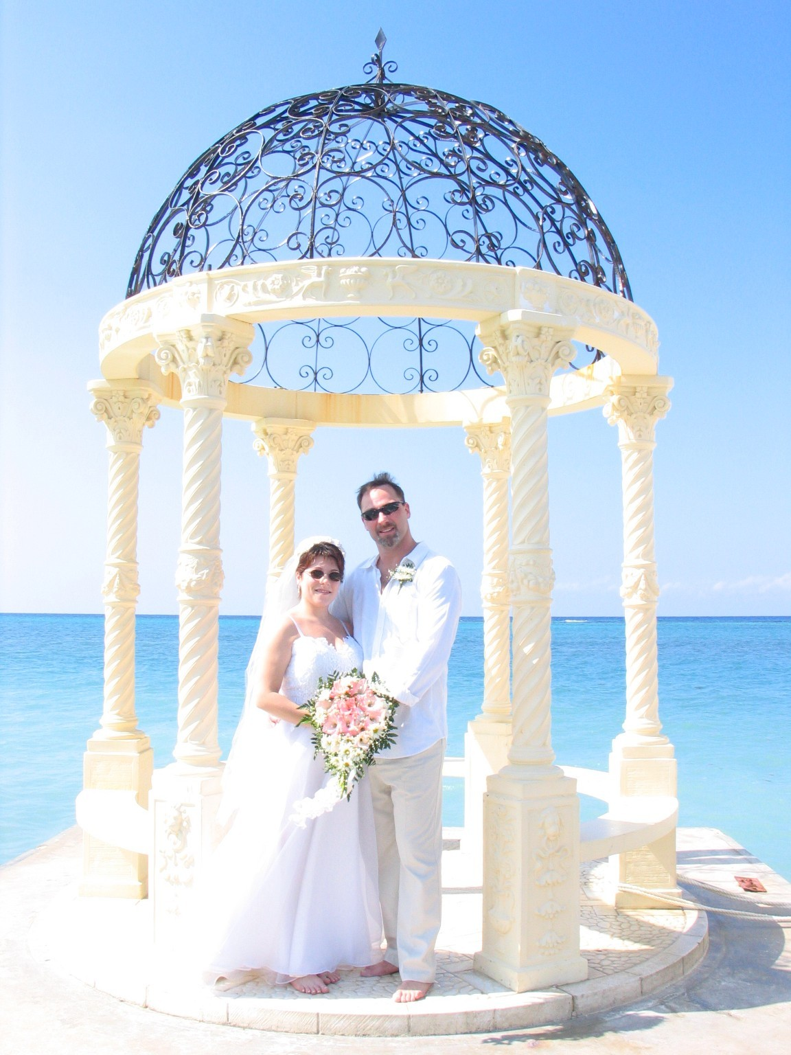 Ceremony, Flowers & Decor, Destinations, white, Wedding, Tropical, Destination, Inspiration board, Jamaica, Barefoot