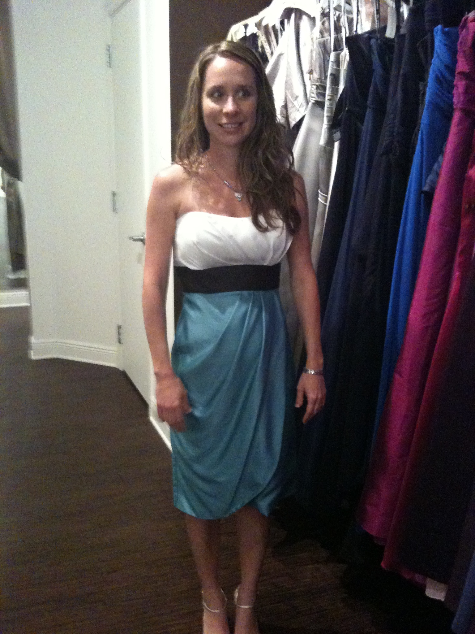 Bridesmaids, Bridesmaids Dresses, Fashion, white, blue