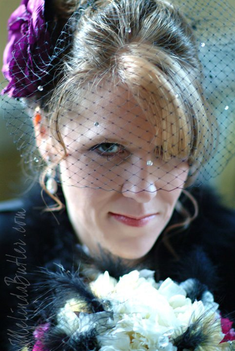 Beauty, Flowers & Decor, Veils, Fashion, white, purple, black, silver, Makeup, Flowers, Veil, Hair, Birdcage, Inspiration board, Hairpiece, Fascinators, Flower Wedding Dresses
