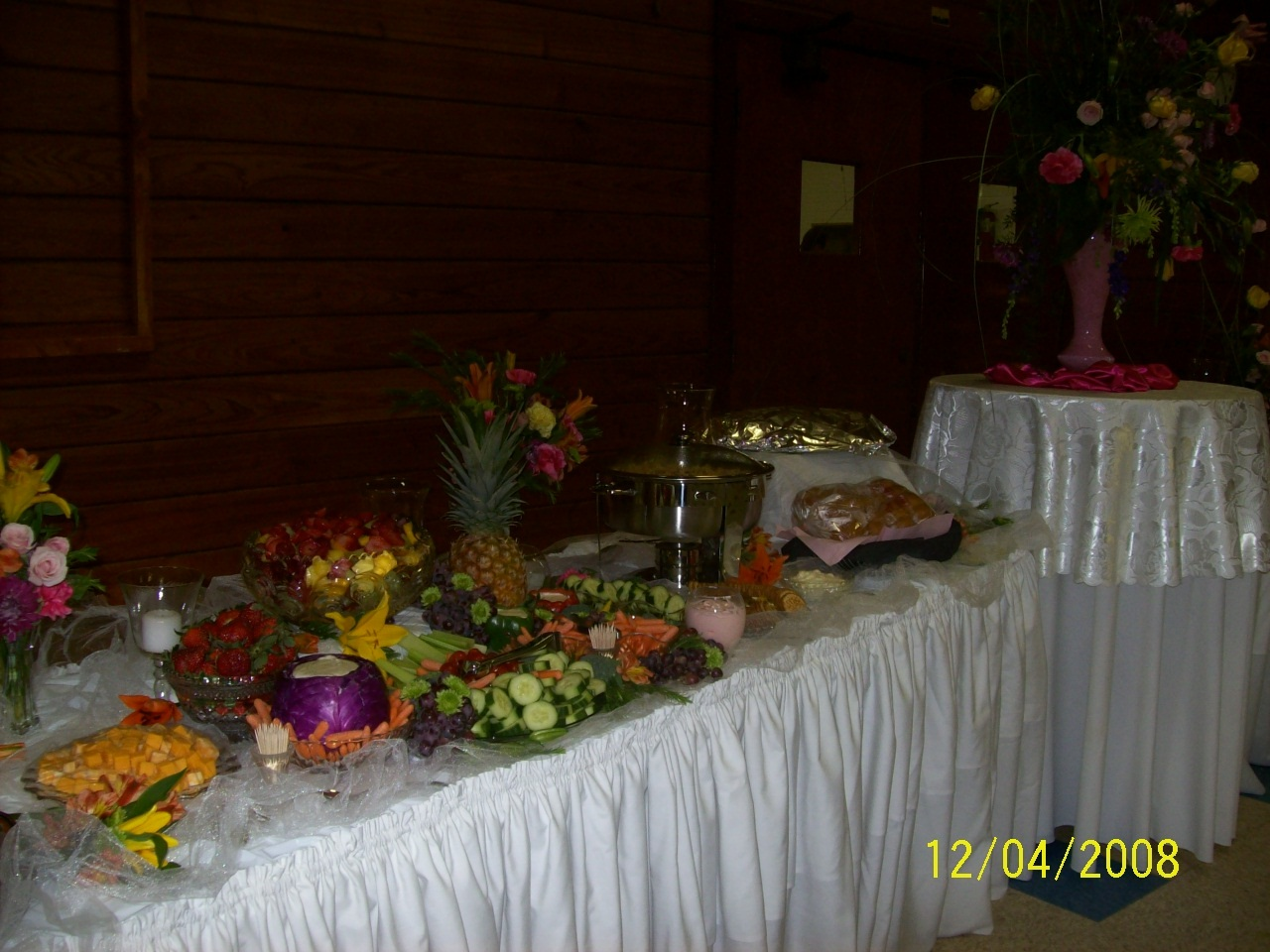 Reception, Flowers & Decor, Food, Table, Buffet