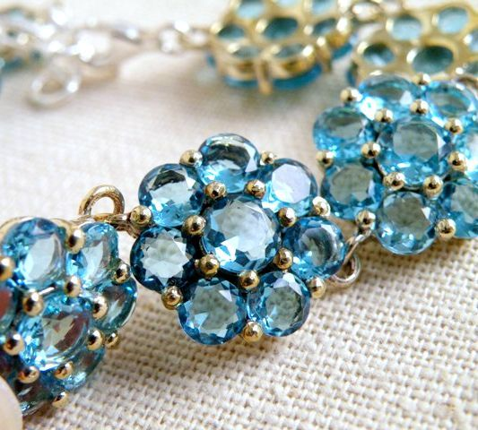 Ceremony, Reception, Flowers & Decor, Jewelry, Bridesmaids, Bridesmaids Dresses, Fashion, blue, silver, Bracelets, Bridal, Weddings, Bracelet, Something, Sterling, Cz, Cubic, Zirconia, Aquamarine