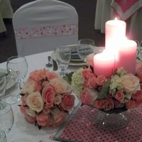 Reception, Flowers & Decor, white, pink, green