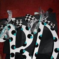 Reception, Flowers & Decor, white, blue, black, Letters