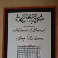 white, red, black, Inspiration board, DIY, The, Save, Date