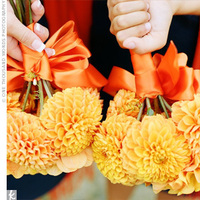 Flowers & Decor, Bridesmaids, Bridesmaids Dresses, Fashion, yellow, orange, Bridesmaid Bouquets, Flowers, Flower Wedding Dresses