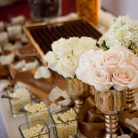 Reception, Flowers & Decor, Favors & Gifts, white, gold, Favors, Flowers