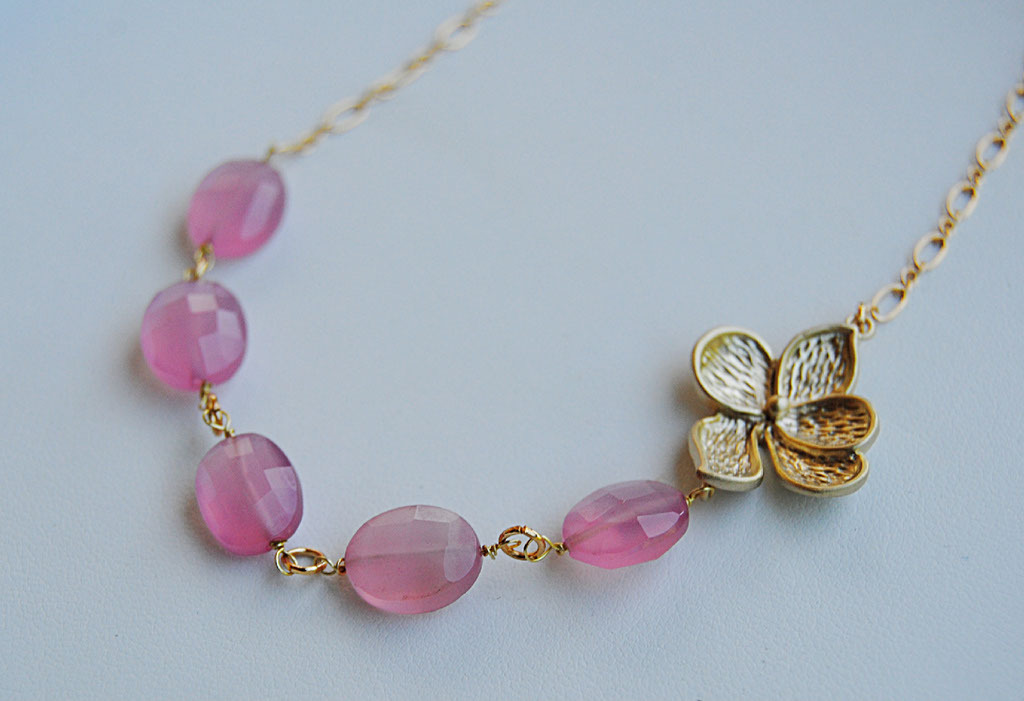 Flowers & Decor, Jewelry, pink, gold, Flower, Bridesmaid, Blustarfruit