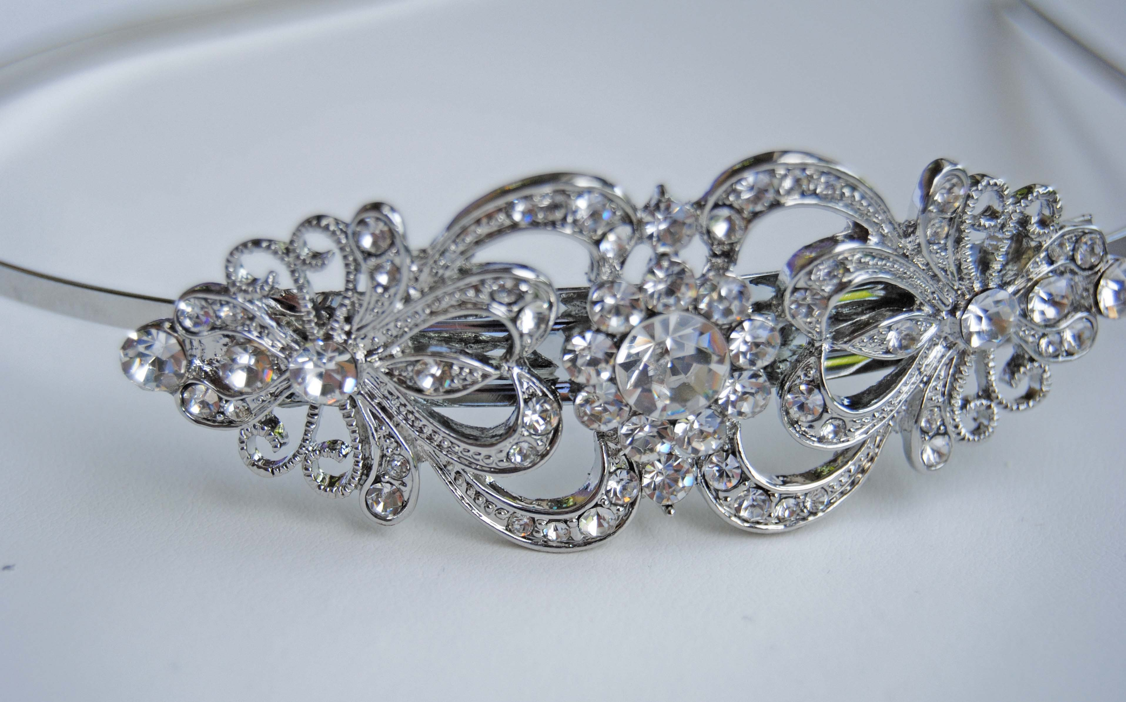 Beauty, Jewelry, Headbands, Bridal, Crystal, Headband, Blustarfruit