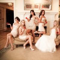 Bridesmaids, Bridesmaids Dresses, Fashion, white, gold