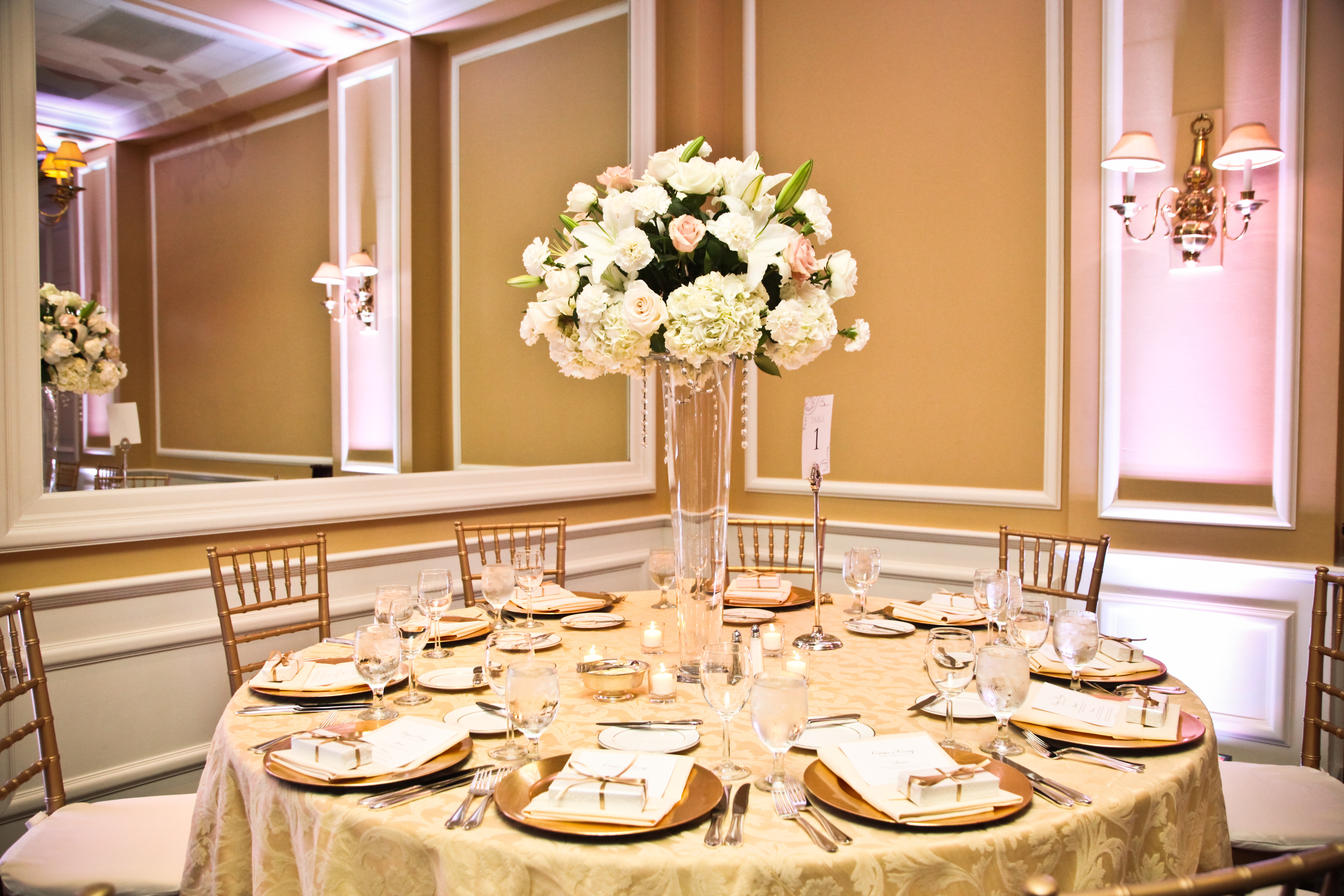 Reception, Flowers & Decor, white, gold, Flowers, Inspiration board