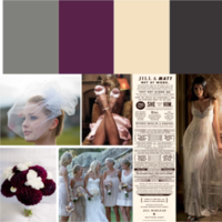 white, pink, purple, brown, black, silver, Inspiration board