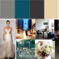 white, blue, black, silver, Inspiration board